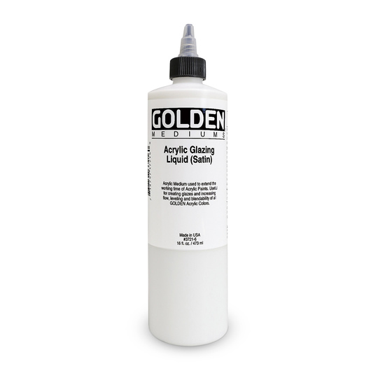 Golden® Acrylic Glazing Liquid Medium - Satin - 16 oz. (473 ml)