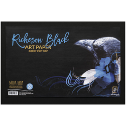 Jack Richeson® Black Art Paper - 135 lb. - 50 Sheets - 12 in. x 18 in.