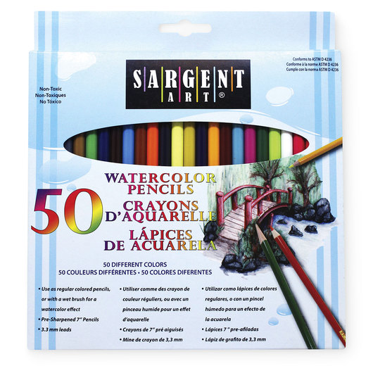 Sargent Art® Watercolor Pencils - Set of 50