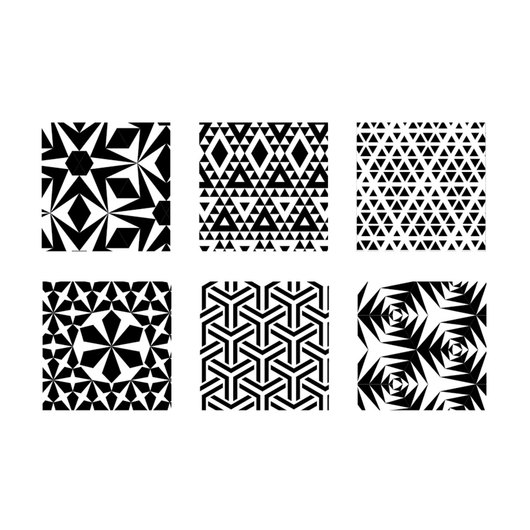 Rubbing Plates - Triangles - Set of 6