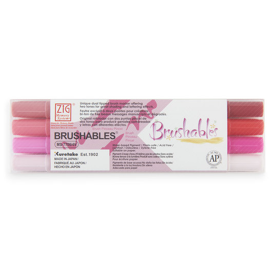 Zig® Brushables Twin-Tip Brush Marker - Red