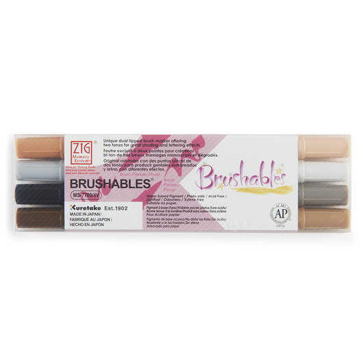 Zig® Brushables Twin-Tip Brush Marker - Brown