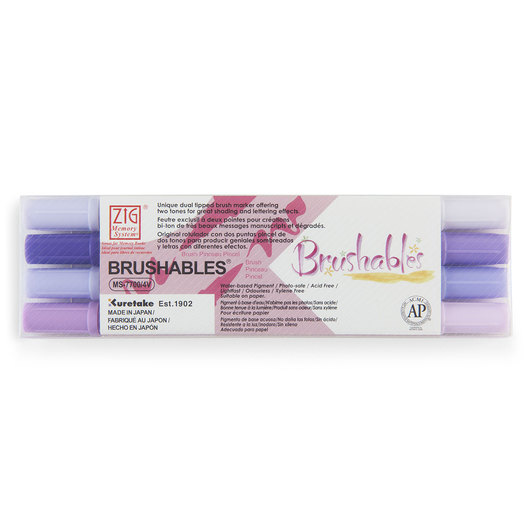 Zig® Brushables Twin-Tip Brush Marker - Purple