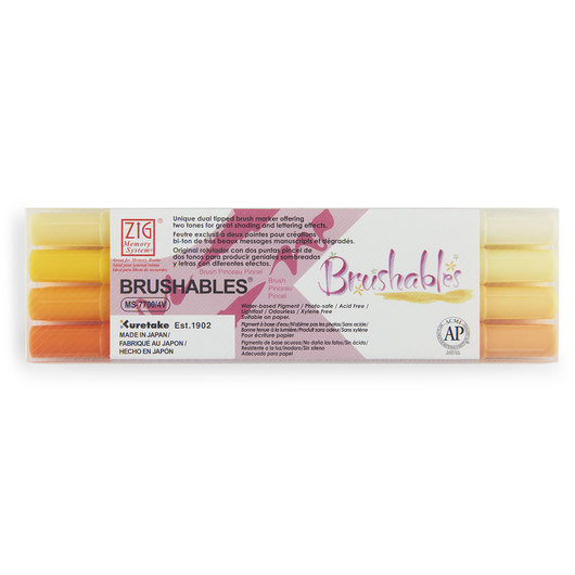 Zig® Brushables Twin-Tip Brush Marker - Yellow