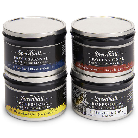 Speedball® Professional Relief Ink™ - Set of 4 - 8 oz.