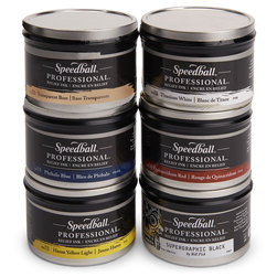 Speedball® Professional Relief Ink™ - Set of 6 - 8 oz.