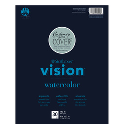 Strathmore® Vision™ Watercolor Artist Pad - 9 in. x 12 in. Tape Binding
