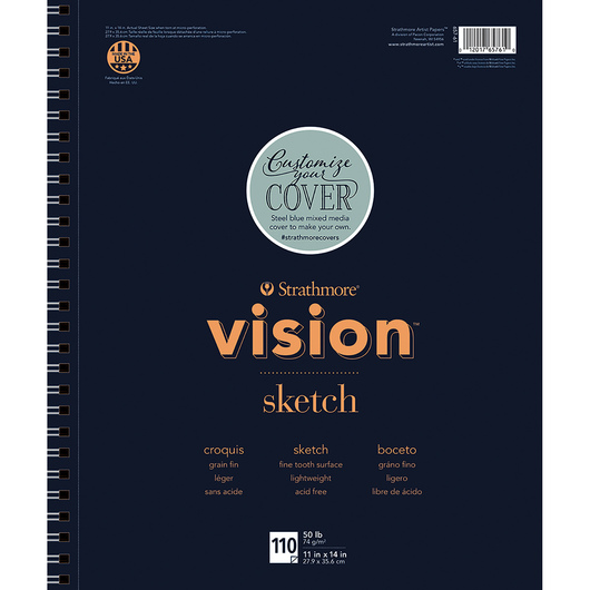 Strathmore® Vision™ Sketch Artist Pad - 11 in. x 14 in. - 110 Sheets