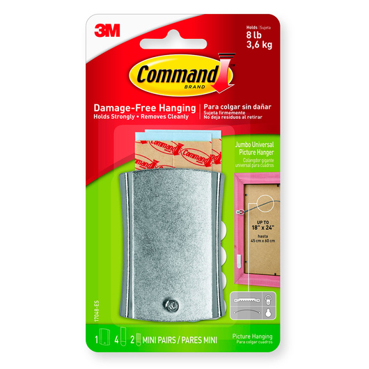 Command® Universal Jumbo Picture Hanger with Stabilizer Strips