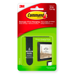 Command® Picture Hanging Strips - Pkg. of 6 - Black