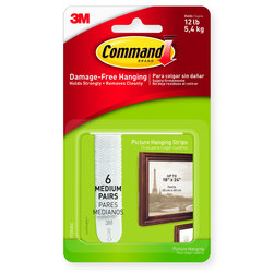 Command™ Picture Hanging Strips - Pkg. of 6 - White