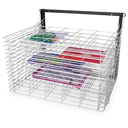 Spring-Loaded Floor/Tabletop Drying Rack with 30 Shelves