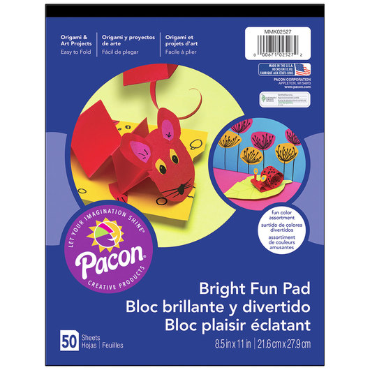 Pacon® Bright Fun Pad - 8-1/2 in. x 11 in. - 50 Sheets