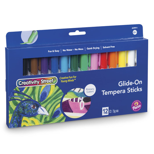 Creativity Street® Glide-On Tempera Paint Sticks Primary Set of 12