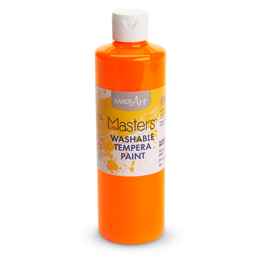 Handy Art® Little Masters® Fluorescent Orange Washable Tempera Paint