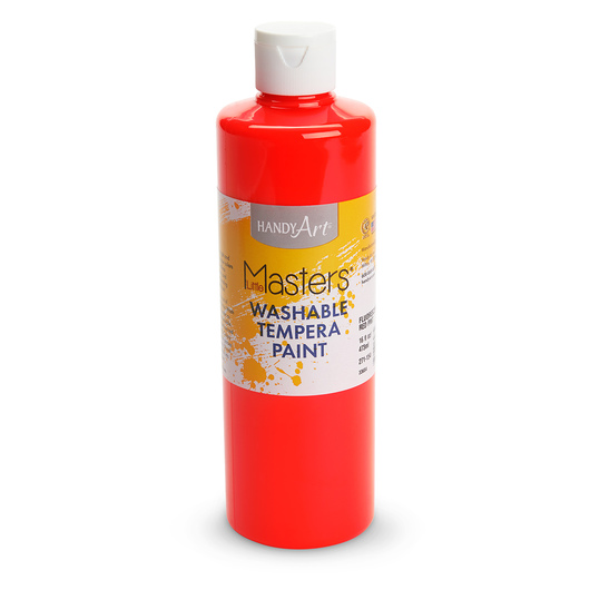 Handy Art® Little Masters® Fluorescent Red Washable Tempera Paint