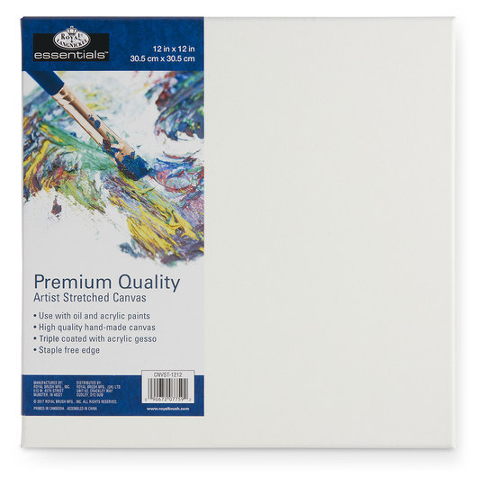 Royal Brush® Essentials Stretched Canvas - 12 in. x 12 in.