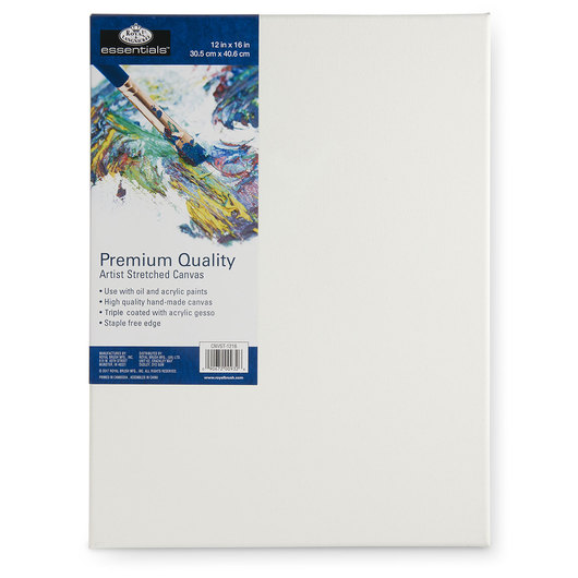 Royal Brush® Essentials Stretched Canvas - 12 in. x 16 in.