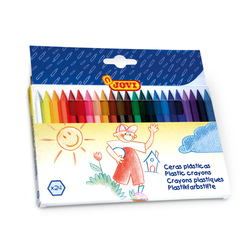 Jovi® Plastic Hexagonal Crayons - Set of 24