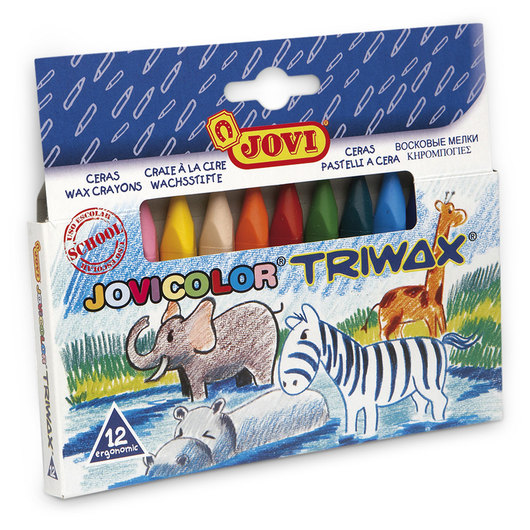 Jovi® Triwax Triangular Crayons - Set of 12