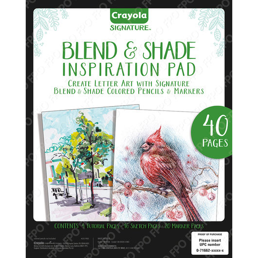 Crayola® Signature Blend & Shade Inspiration Pad