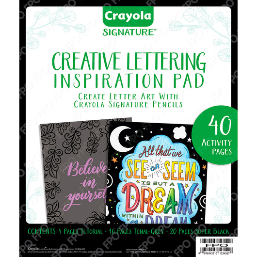 Crayola Signature Creative Lettering Inspiration Pad-40 Pages