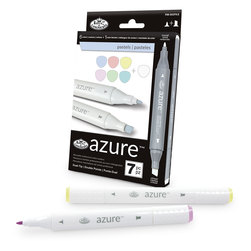 Royal Brush® Azure Markers - 7-Piece Pastel Set