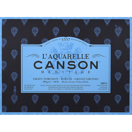 L'Aquarelle Canson® Héritage Watercolor Paper Block - 9 in. x 12 in.