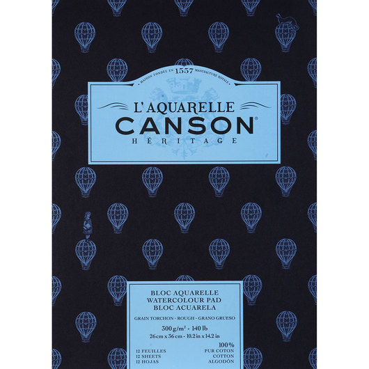 L'Aquarelle Canson® Héritage Watercolor Paper Pad - 9 in. x 12 in.