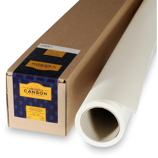 L'Aquarelle Canson® Héritage Cold Press Watercolor Paper Roll - 60 in. x 5 yd.
