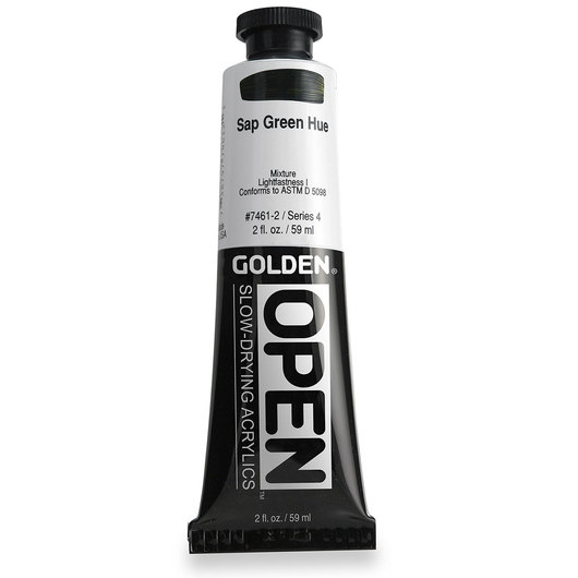 Golden® OPEN Acrylic - 2 oz. Tube - Sap Green Hue