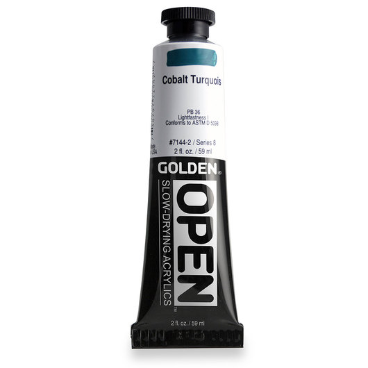 Golden® OPEN Acrylic - 2 oz. Tube - Cobalt Turquoise