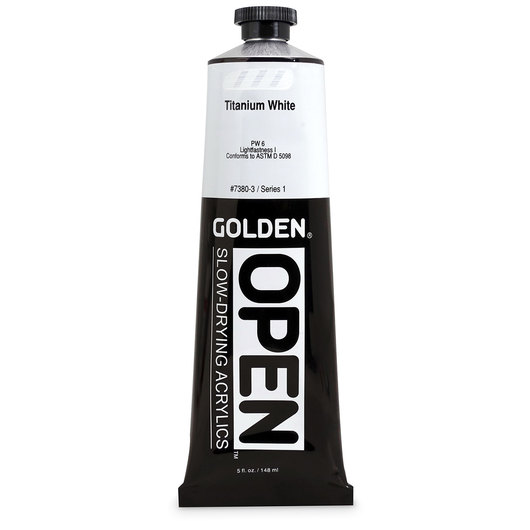 Golden® OPEN Acrylic - 5 oz. Tube - Titanium White