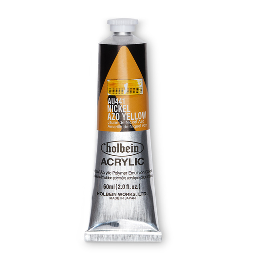 Holbein Heavy-Body Acrylic Paint - 2 oz. (60 ml) - Nickel Azo Yellow
