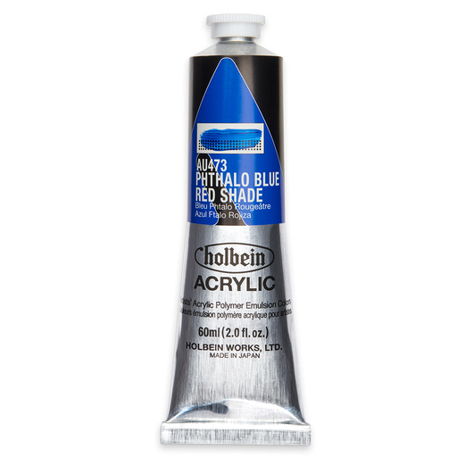 Holbein Heavy-Body Acrylic Paint - 2 oz. (60 ml) - Phthalo Blue Red Shade