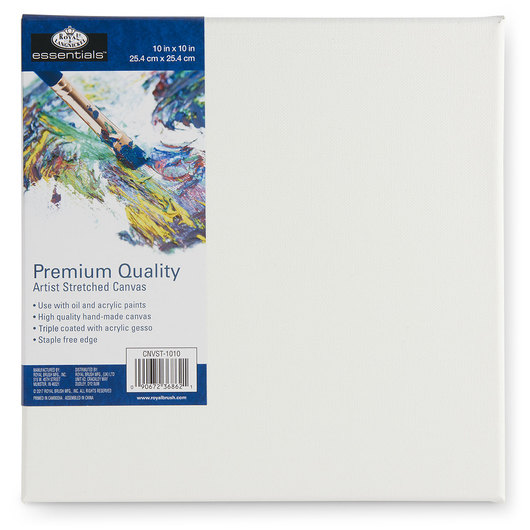 Royal Brush® Essentials Stretched Canvas - 10 in. x 10 in.