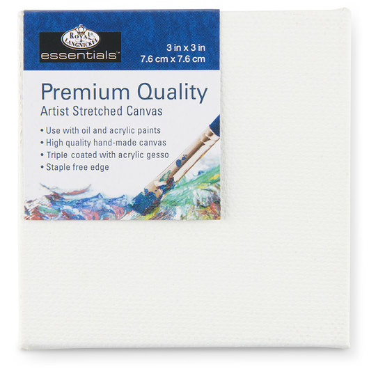 Royal Brush® Essentials Stretched Canvas - 3 in. x 3 in.