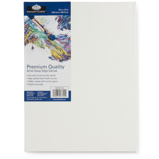 Royal Brush® Essentials Deep Edge Stretched Canvas - 9 in. x 12 in.