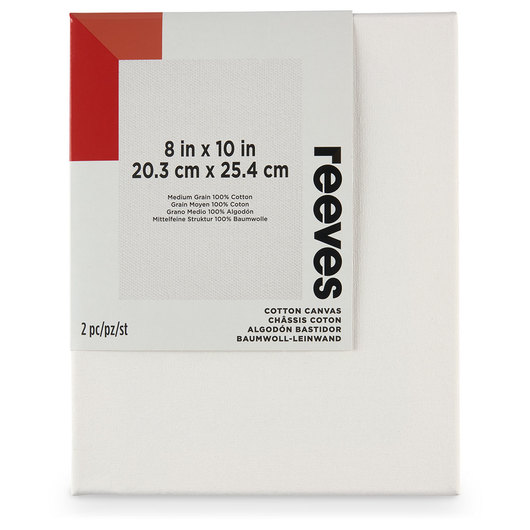 REEVES Stretched Canvas Pack of 2 - 8 in. x 10 in.