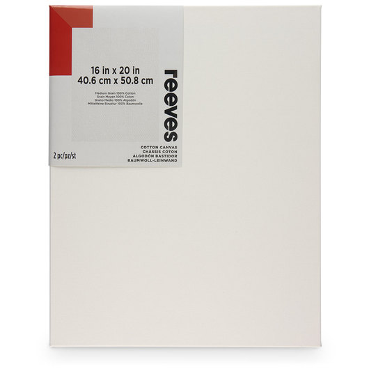 REEVES Stretched Canvas Pack of 2 - 16 in. x 20 in.