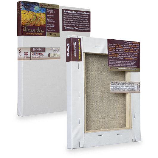 Vincent™ PRO Vintage™ Oil Primed Belgian Linen - 4 in. x 6 in.