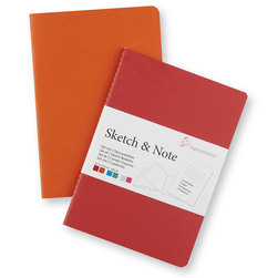 Sketch and Note Bundle - 4 in. x 6 in. - Red