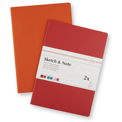 Sketch and Note Bundle - 8-1/2 in. x 11-1/2 in. - Red