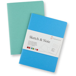 Sketch and Note Bundle - 5-1/2 in. x 8-1/2 in. - Blue