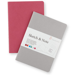 Sketch and Note Bundle - 4 in. x 6 in. - Gray/Pink