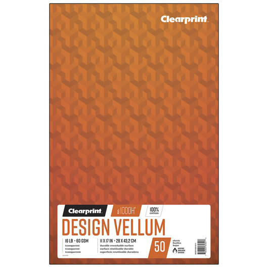 Clearprint 1000H Design Vellum Paper - 11 in. x 17 in. - No Grid