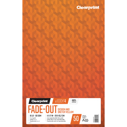 Clearprint 1000H Design Vellum Paper - 11 in. x 17 in. - 4x4 Grid