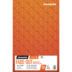 Clearprint 1000H Design Vellum Paper - 11 in. x 17 in. - 10x10 Grid