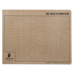 Koala Tools® 2-Point Perspective Sketchbook - 10-3/8 in. x 8 in.
