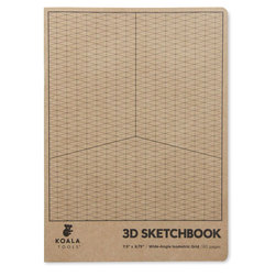 Koala Tools Wide-Angle Isometric Sketchbook - 7-1/2 in. x 9-3/4 in.